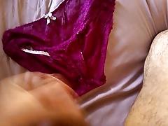 Wanking panties gf