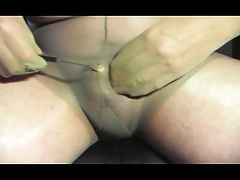 transvestite toy sounding urethral and pantyhose nylon