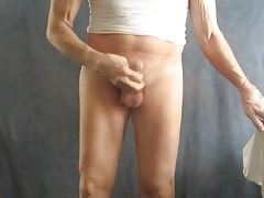 Sissy bitch takes his panties off