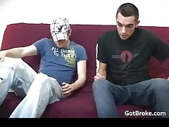 Straight and broke Blake & Damien having gay sex