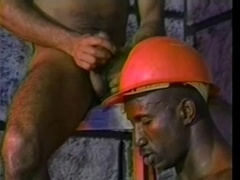 Muscular black gay pounds his buddy's ass from behind