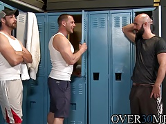 Hairy gay dudes Dustin Steele and Hans Berlin go crazy