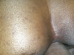 Teasing Bubble Booty with Raw Dick