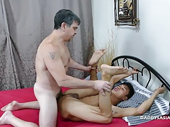 Daddy and Asian Boy Andrew Flip Fuck