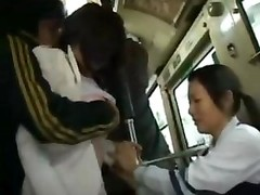 Mother And moreover Daughter Fucked In A Bus