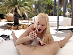 Luxury sex with Europeans slut by the pool