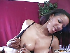 Handjob from ebony amateur girl in hot amateur porn 2