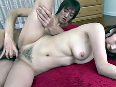 Horny Japanese schoolgirl gets three creampies in a row