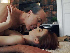 Innocent sweet Teen Swallows and Spits cum Romantic Sex