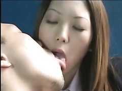 Pretty japanese school dame 039 s taut pussy romped gobbles jizz