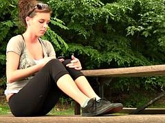 Amy shoeplay in Vans sneakers, 1st shoot ever
