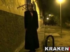 Krakenhot Strange BDSM in Public at night