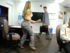 Fantastic Hooters Eager mom In Office