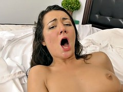 New Teen Lily love the cock and to be covered in cum
