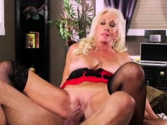 Busty Mature Blonde In Lingerie
