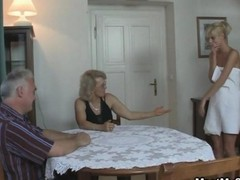 His Female friend & Parents In Hot Threes