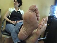grown-up clerk feet