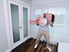 Anya Olsen hump standing by boyfriend