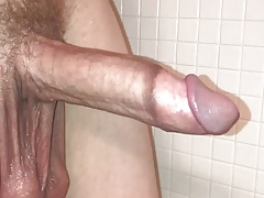 Big balls contracting and stroking in shower pt.3