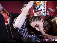Movie Theater Threesome