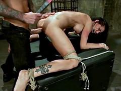 Big boob brunette gets fucked