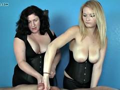 Mature femdom masseuse roping clients balls