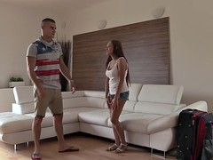Long-haired Russian tourist Katarina is banged abroad