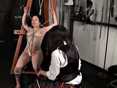 Asian bondage babe Devil and japanese damsel in distress
