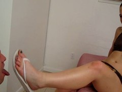 I lickclean my wifes dirty feet and besides shoes red-hot daily