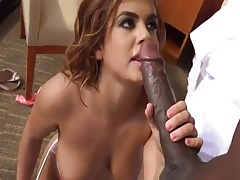 Brunnette and Mandingo Anal