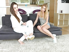 Angelina Brill with Lilly Vanilie having lesbian sex pr