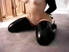 Latex Sub Babe Dress Up In Whole Rubber