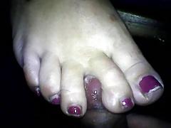 wife toes service cum