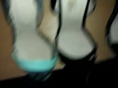 fucking and cum very attractive 3 sandals highheel
