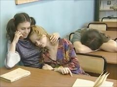 Lesbienne, Rousse roux, Russe, Professeur