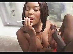 Hot Ebony Handjob And moreover Smoking Fetish 1 FG09