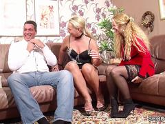 German Wife Suprise His Husband with Threesome with MILF