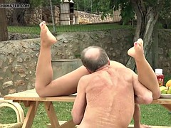 Tighty Body Young Girl Fucked Grandpa Sucked his Old Dick
