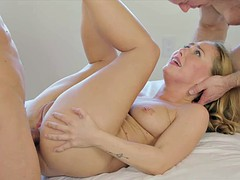 Young rich girl gets some first time double penetration for complaining