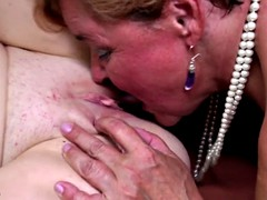 Old and young lesbian perfect foursome
