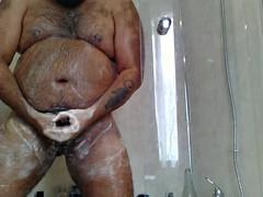 Son chub hairy bear shower fun pt1