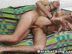 Barebacking Sex Licking and sucking Balls