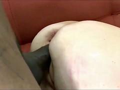 Mature 60+ takes bbc anal