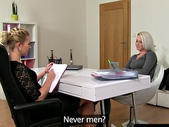 Vorstellungsgespräch, Lesbisch, Strapon
