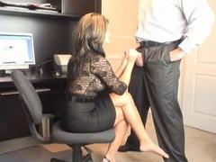 Hot Soccer mom Office Oral