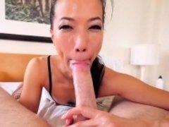 Asian babe wam in cum