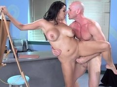 Curvy art model and a horny student fucking after class