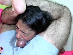 Cute Braceface Teen Slut Extreme Sloppy Throat Gagging