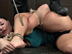 Tiedup submissive caned hard by black master