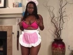 Sexy French Maid Striptease for Adamsangels.net